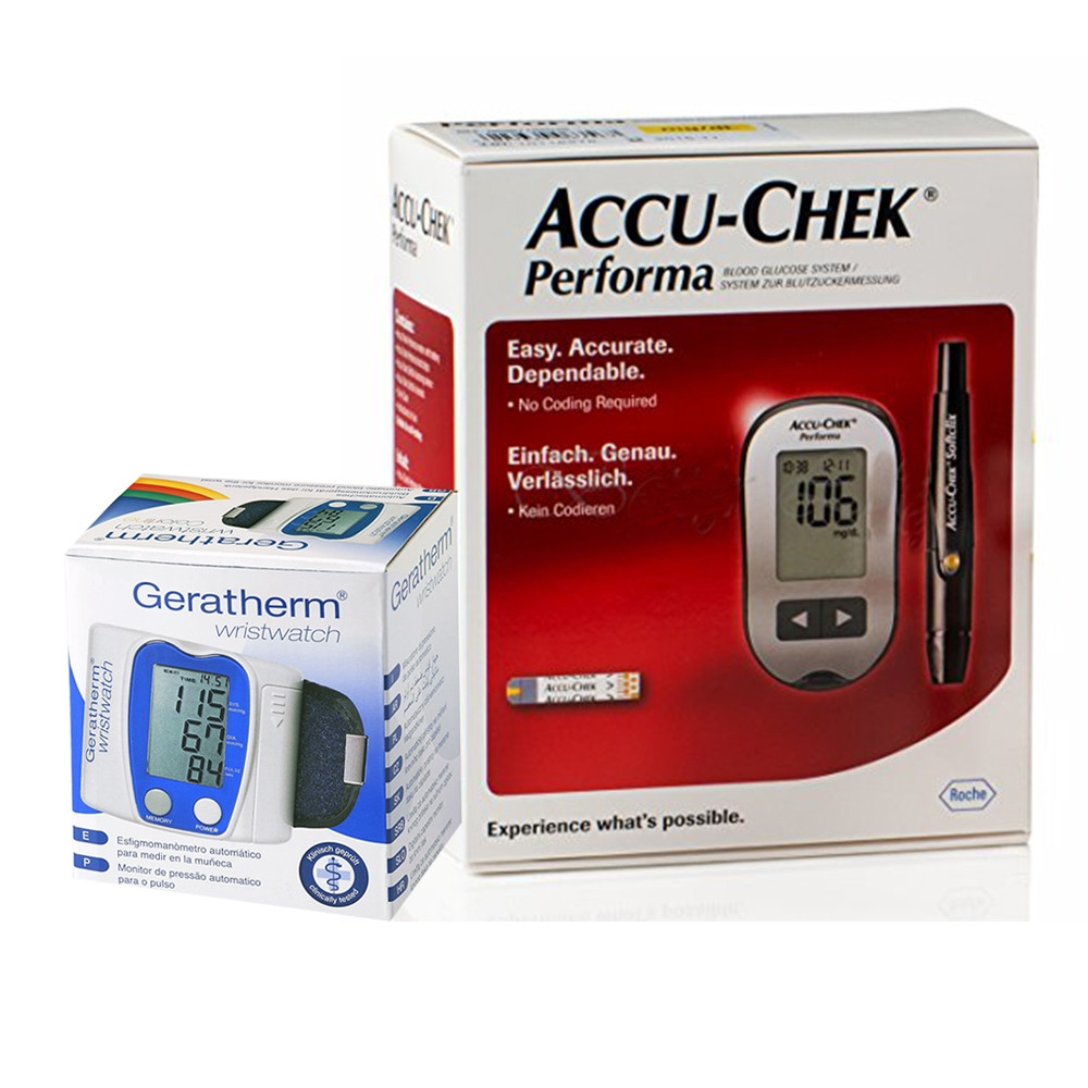 ACCU-CHEK PERFORMA +GERATHERM WRIST B/P (OFFER)