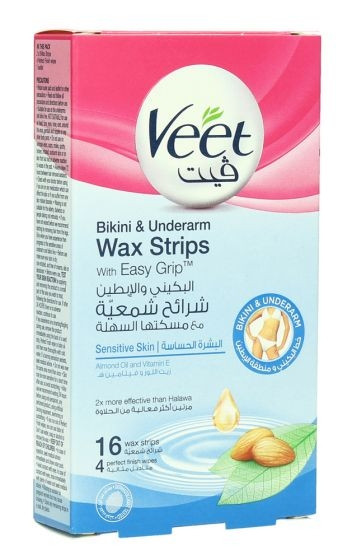 VEET WAX STRIPS BIKINI & UNDER ARM 16PCS