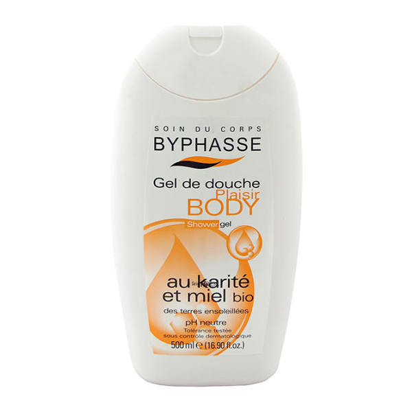 BYPHASSE Plaisir shower gel shea butter and organic honey