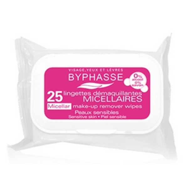 BYPHASSE Make-up remover wipes micellar solution