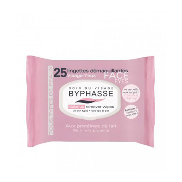 BYPHASSE Make-up remover wipes milk proteins