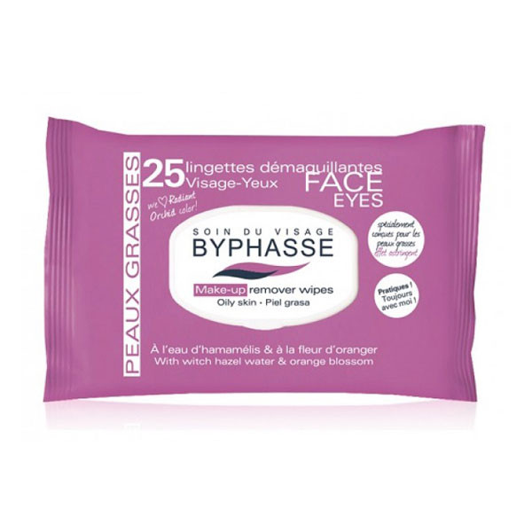 Byphasse Make-up remover wipes witch hazel water & orange blossom 25U