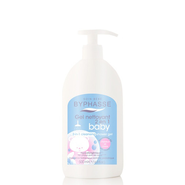 BYPHASSE BABY SHOWER GEL 2 IN 1 HAIR AND BODY 500ML