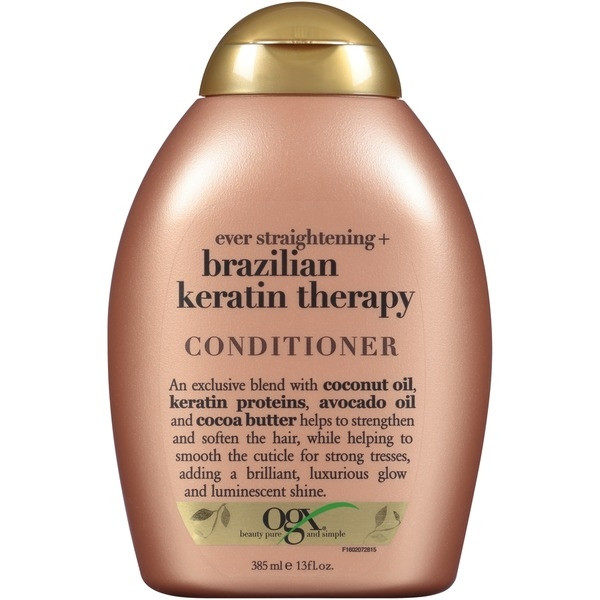 OGX EVER STRAIGHTENING+ BRAZILIAN KERATIN THERAPY CONDITIONER 385 ML