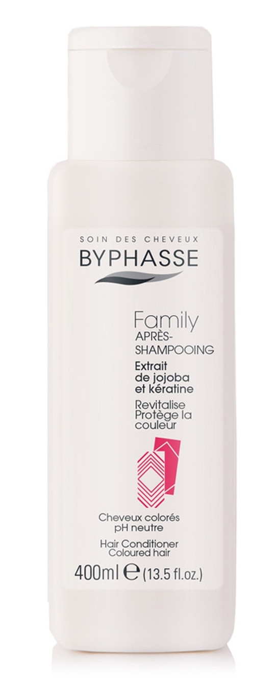 BYPHASSE Family hair conditioner jojoba extracts and keratin colored hair