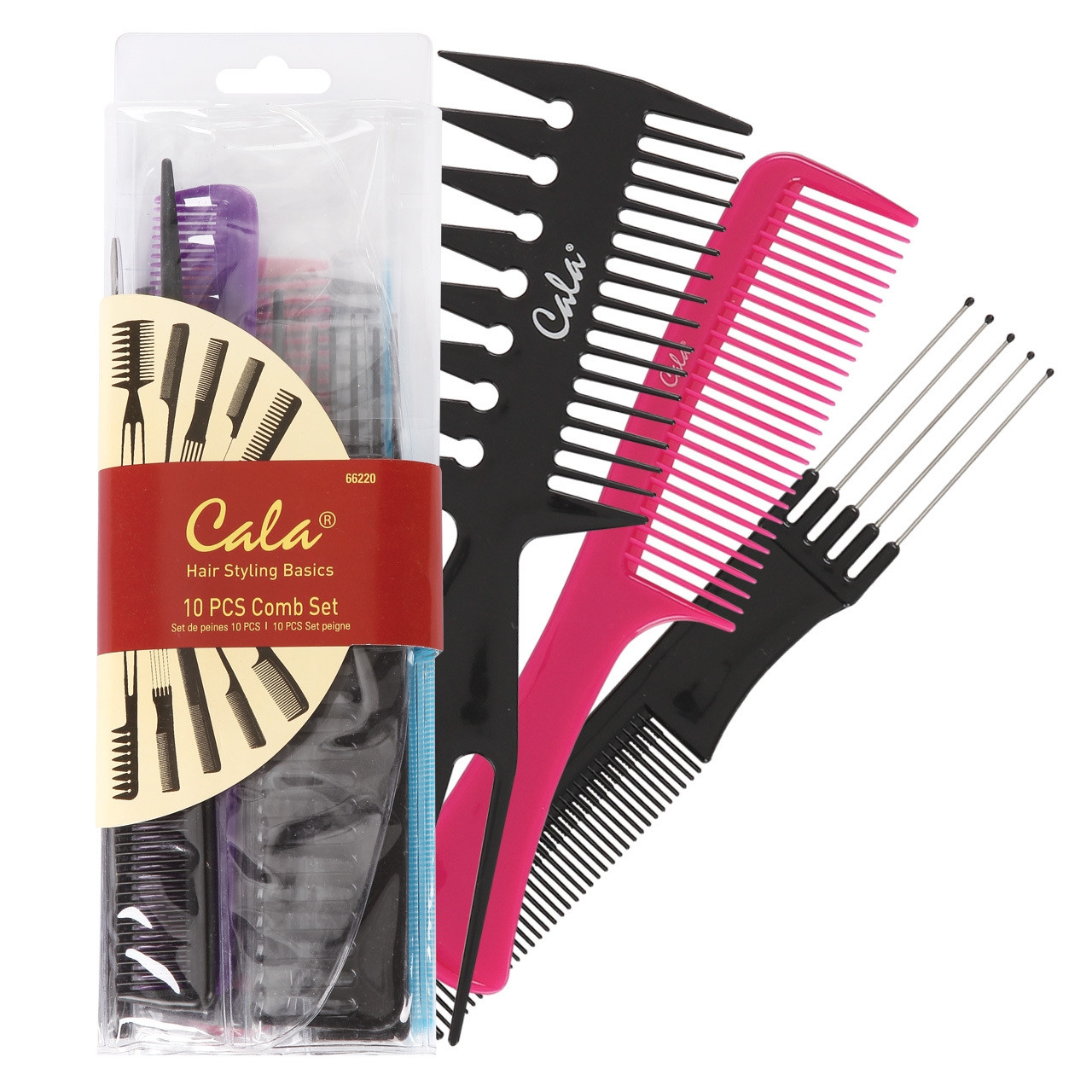 CALA HAIR STYLING COMBO SET 10 PIECES-66220