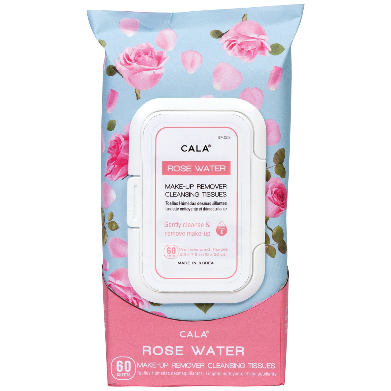 CALA ROSE WATER MAKE-UP REMOVER TISSUES-67025