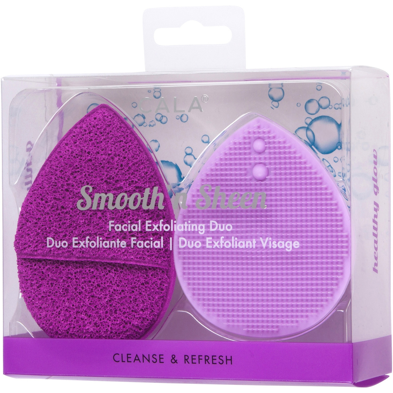 CALA SMOOTH N SHEEN EXFOLIATING DUO PURPLE -76117