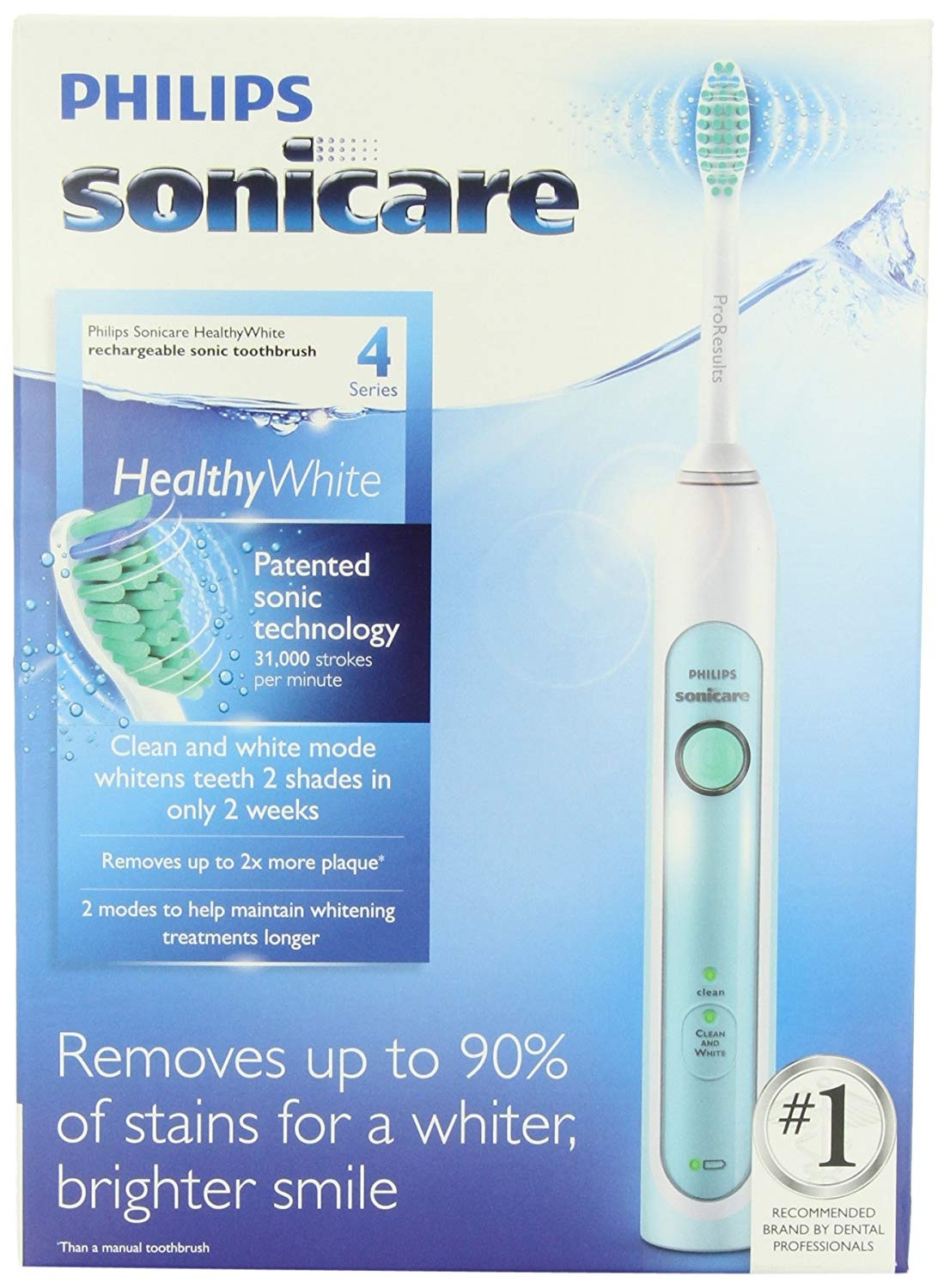 PHILIPS SONICARE TOOTHBRUSH HEALTHY WHITE RECHARGEABLE