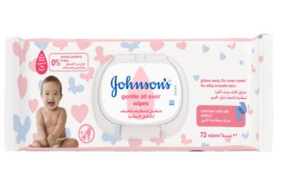 JOHNSONS GENTLE ALL OVER WIPES 72 PIECES