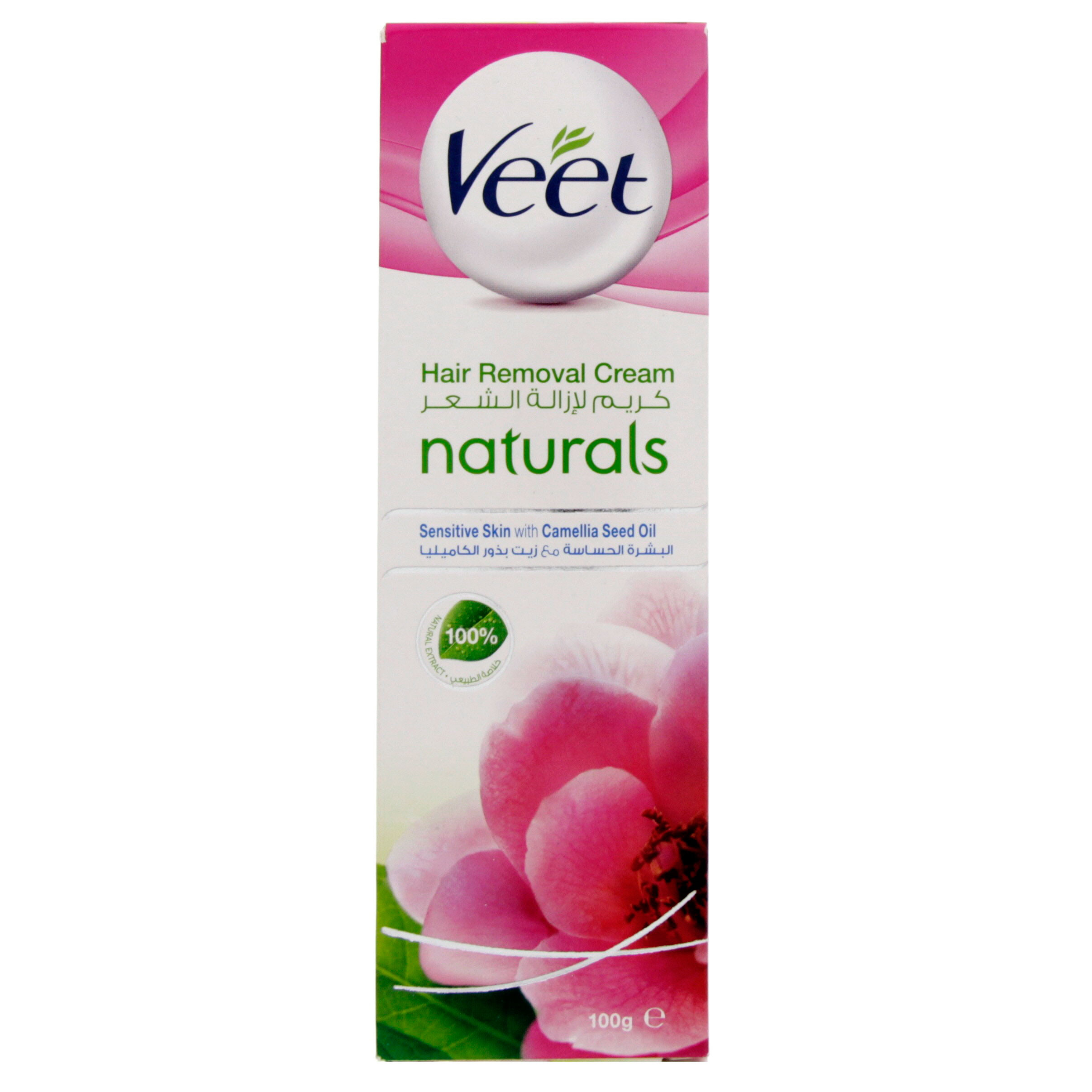 VEET HAIR REMOVAL CREAM 100G-NATURAL WITH CAMELLIA