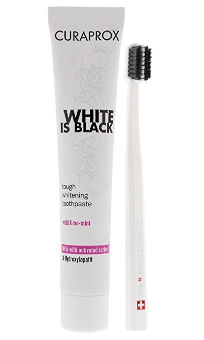 CURAPROX WHITE IS BLACK TOOTHPASTE+TOOTHBRUSH