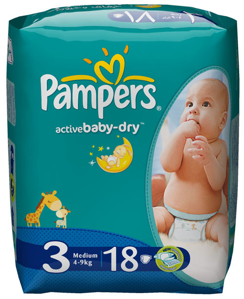 PAMPERS ACTIVE BABY 3/18