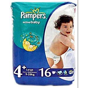 PAMPERS ACTIVE BABY 4+/16