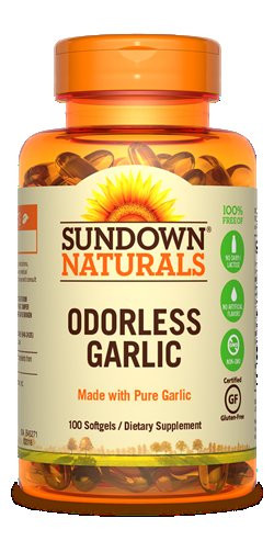 SUNDOWN ODORLESS GARLIC 100CAP