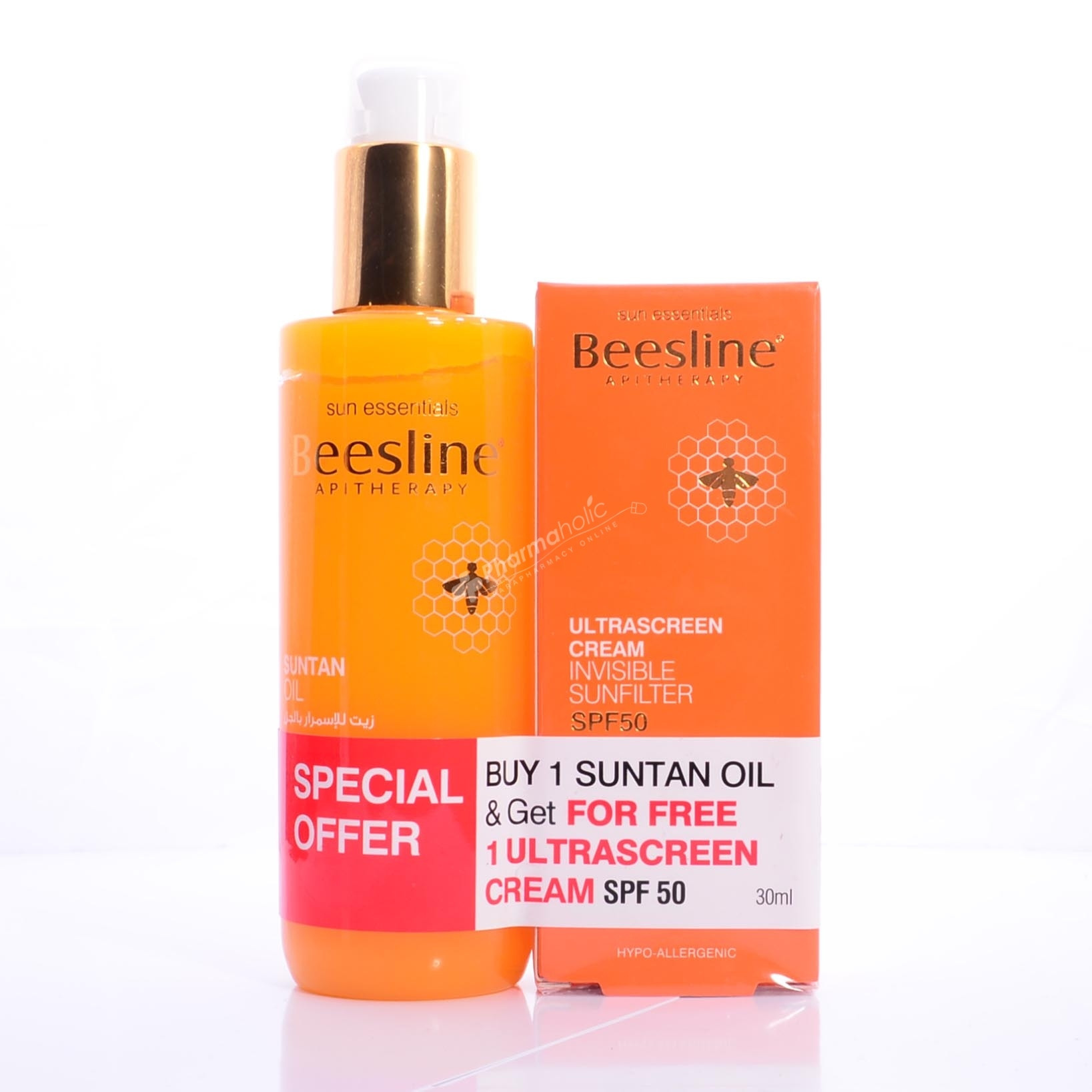 BEESLINE SUNTAN OIL CARROT+ULTRA SUNSCREEN CR