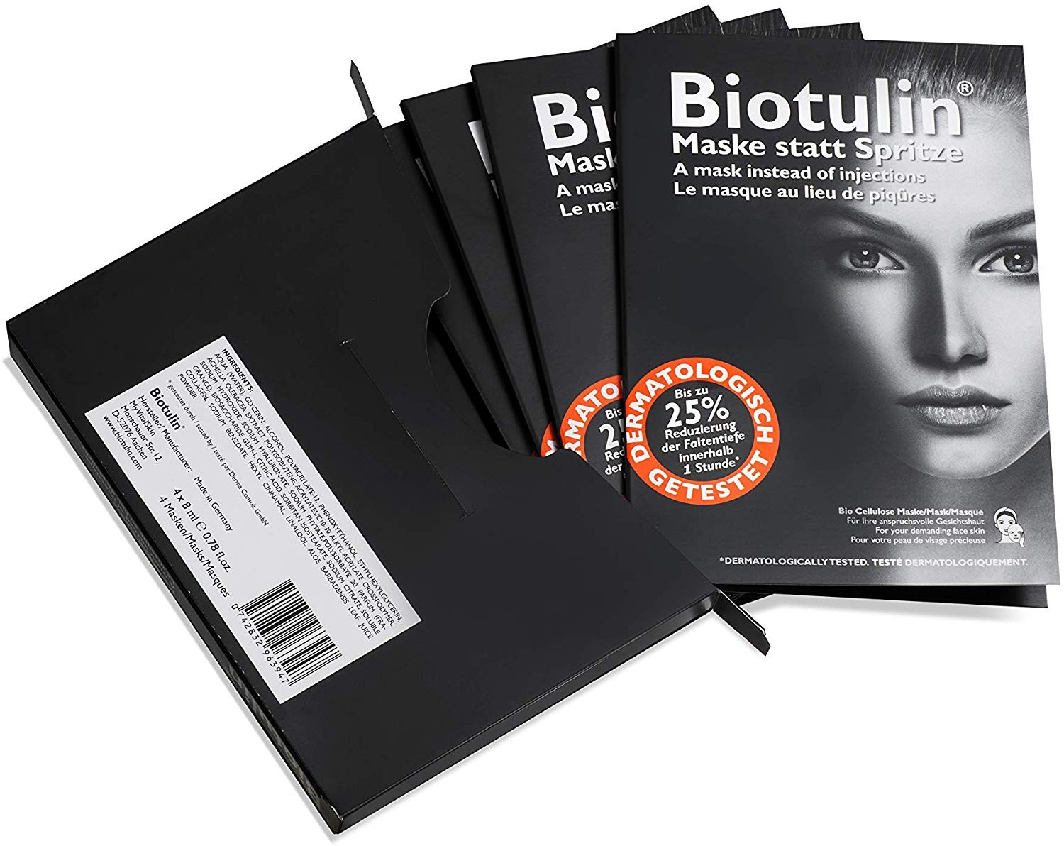 BIOTULIN BIO CELLULOSE MASK PACK OF 4PCS
