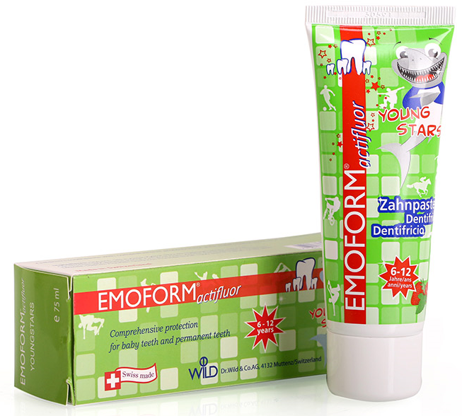 EMOFORM ACTIFLUOR YOUNG STAR T/P 75ML