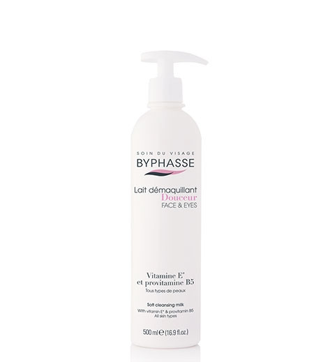 BYPHASSE FACE SOFT CLEANSING MILK PUMP 500ML