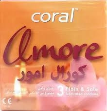 CORAL CONDOMS (AMORE) 3PCS