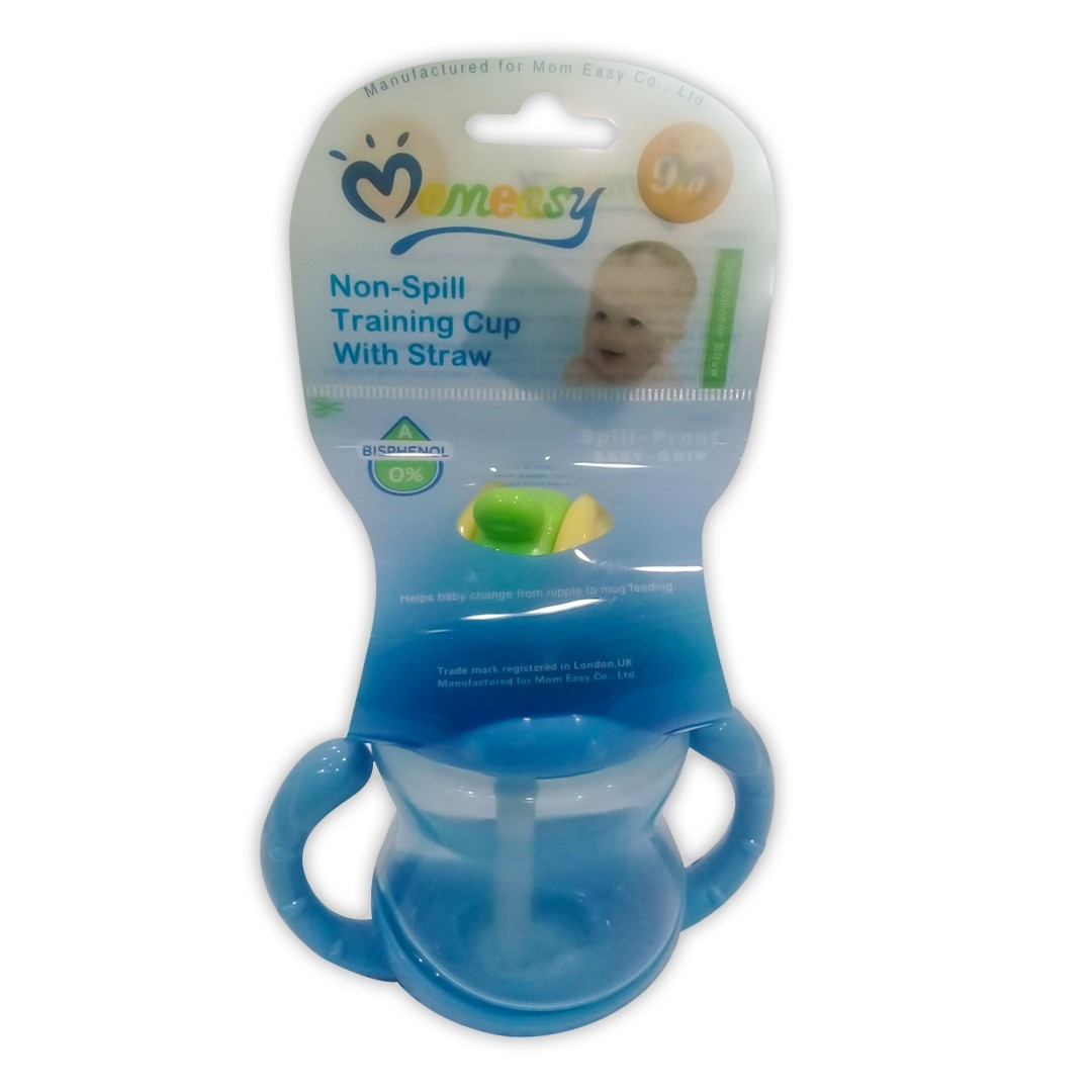 Momeasy Non-Spill Training Cup With Straw .