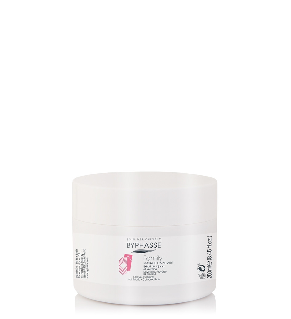 BYPHASSE Family hair mask jojoba extract and keratin