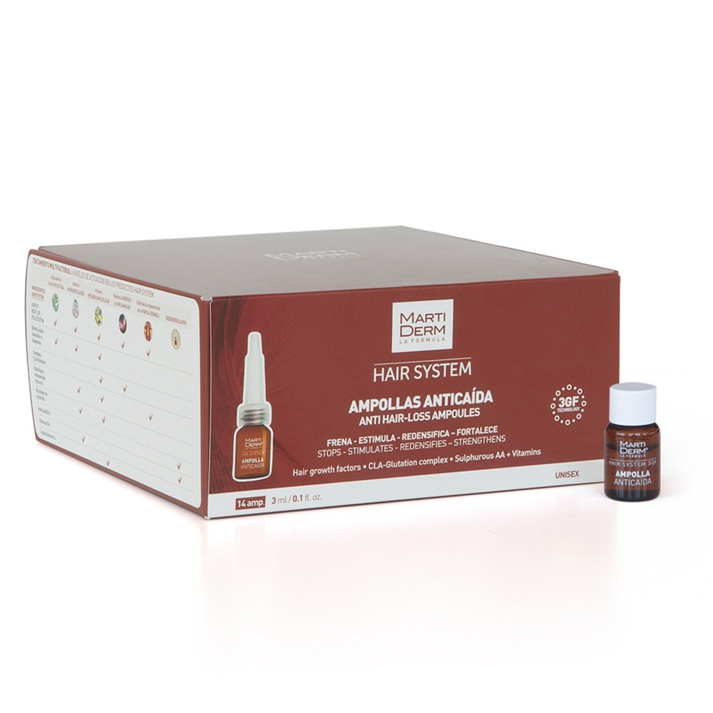FIT MARTIDERM ANTICAIDA HAIR SYS 3GF 14AMP 3ML