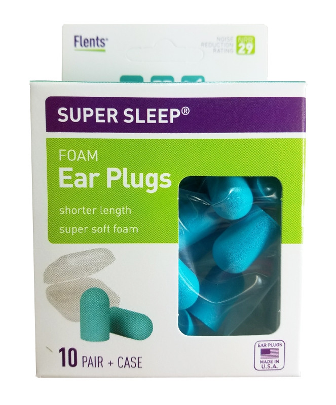 FLENTS SUPER SLEEP FOAM EAR PLUGS 68405