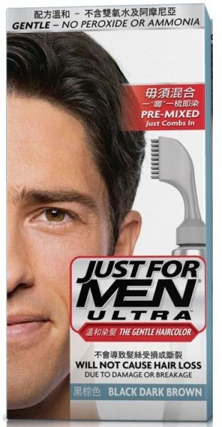 Just For Men Ultra The Gentle Haircolor Black Dark Brown A-50