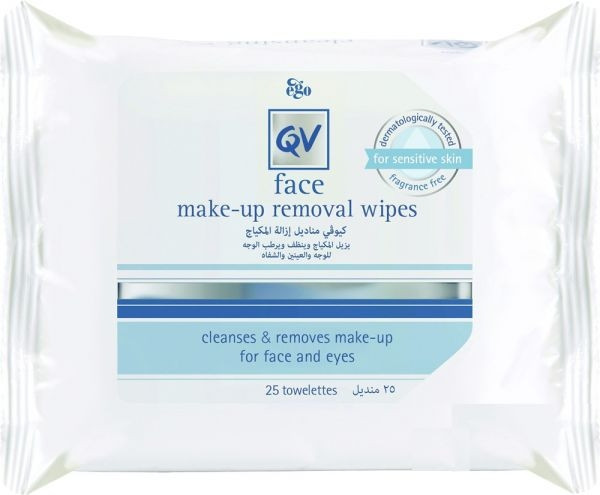 QV FACE MAKE-UP REMOVAL WIPES 25 PIECES