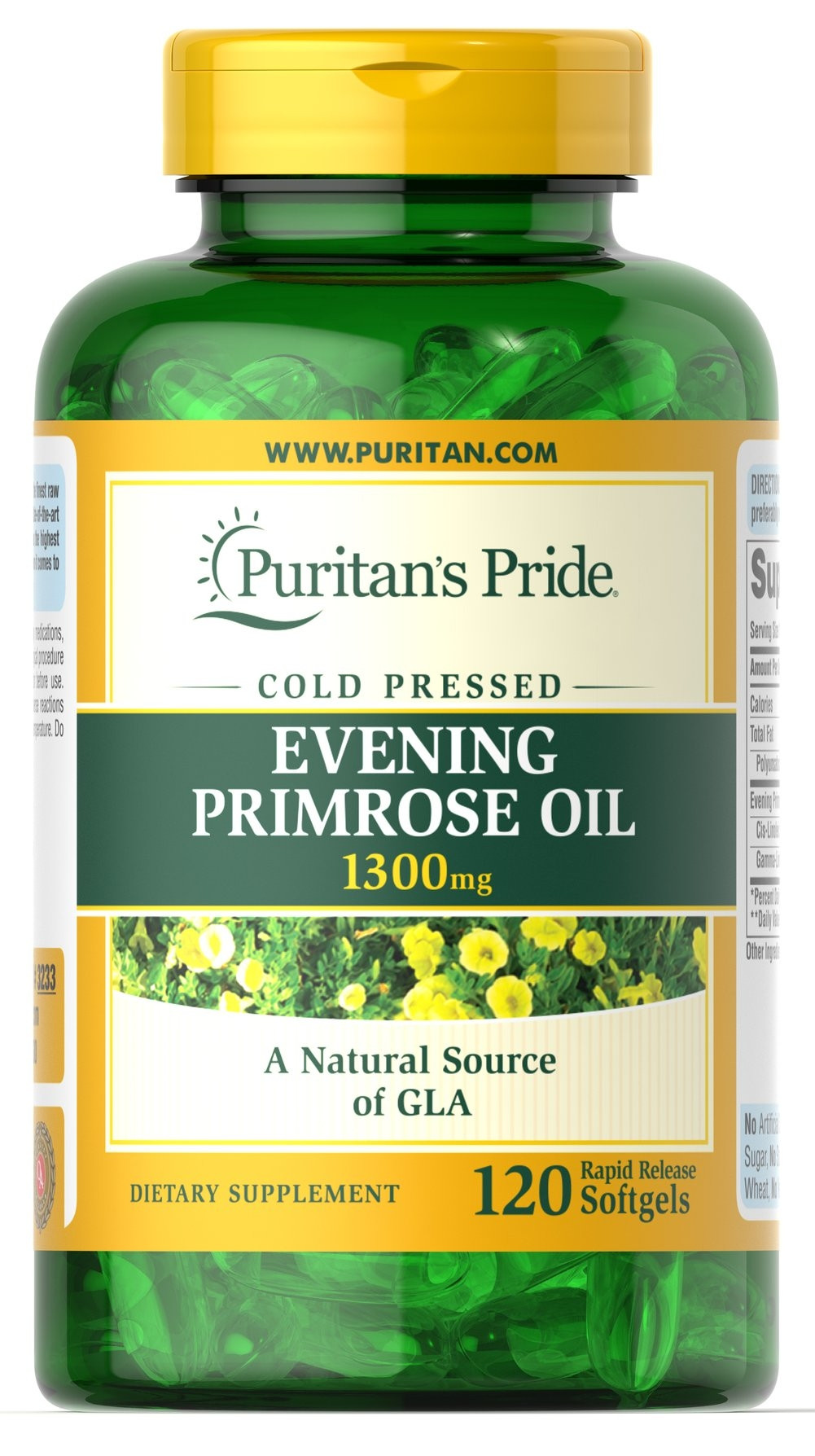 PURITAN'S PRIDE EVENING PRIMROSE OIL 1300MG 120CAP