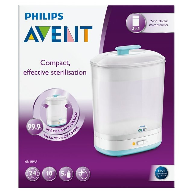 PHILIPS AVENTS ELECTRIC STERILISER 2 IN 1