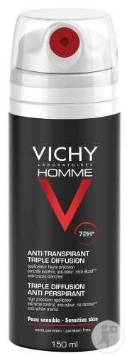 VICHY HOMME DEODORANT TRIPLE DIFFUSION 72H SPRAY 150ML