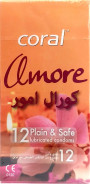 CORAL LATEX CONDOMS (AMORE) 12PCS