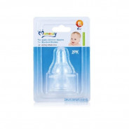 Momeasy Silicon Nipples For Wide Neck  Bottles .