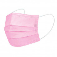 FACE MASK (PINK) DISPOSABLE 50 PIECES
