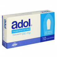 ADOL 250MG 10 SUPP