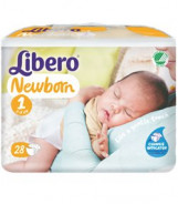 LIBERO NEW BORN NO-1 2-4KG 28PC