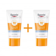 Eucerin Sensitive Protect Sun Cream SPF 50+ (1+1) OFFER