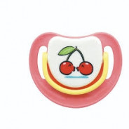 PIGEON SILICONE PACIFIER S-3 (CHERRY) 13678