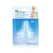 Momeasy Peristaltic Silicon Nipples For Wide Neck Bottles .