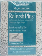 REFRESH PLUS LUBRICATING EYE DROPS 30 PCS